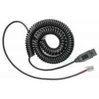 VXI telefoon kabel: QD 1027V - Zwart