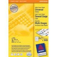 Avery etiket: Universal Labels, White 70x16,9mm