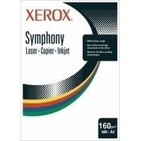 Xerox papier: Symphony 160 g/m² A4 250 Sheets Yellow - Geel