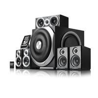 "Edifier luidspreker set: 5.1-ch System, 5x 60W + 240W RMS, 130Hz-20kHz + 42Hz-140kHz, 85dB(A), 25.4 cm (10 "") subwoofer ....."