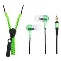 "LogiLink koptelefoon: HS0021 - ""Zipper"" Stereo In-Ear Headphone w/ Microphone & Remote, Green - Groen"