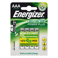 Energizer ENR Recharge Power Plus 700 AAA BP4 batterij - Zilver