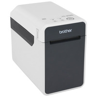 Brother labelprinter: 300 x 300 dpi, 63mm, 16MB SDRAM, 152.4mm/sec, USB 2.0, Ethernet LAN - Zwart, Grijs