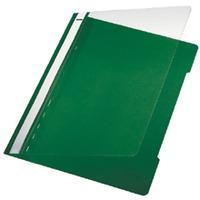 Leitz stofklepmap: Standard Plastic File  A4 PVC Green (25) - Groen