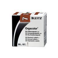 Leitz etiket: CIJFERSIGNALEN ORGACOLOR N6 BRUIN