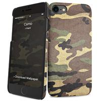 I-Paint mobile phone case: Camo - Zwart, Bruin
