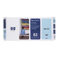 HP printkop: 83 licht-cyaan DesignJet UV-printkop en printkopreiniger - Lichtyaan