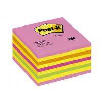 Post-It zelfklevend notitiepapier: Notitieblok Postit 76x76 neonkleuren/450