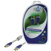 HQ HDMI kabel: SV-400-2.5 - Blauw, Grijs