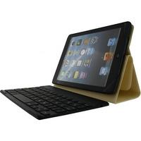 ROCK mobile device keyboard: Detachable Bluetooth Keyboard Case Apple iPad Mini 3, Light Gold - Goud