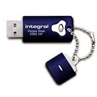 Integral USB flash drive: 8GB Crypto Dual FIPS 197 - Blauw