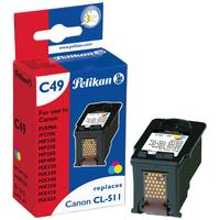 Pelikan inktcartridge: CL-511 СMY - Cyaan, Magenta, Geel