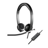 Logitech headset: H650e - Zwart, Zilver