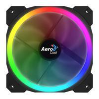 Aerocool Hardware koeling: 120 mm, 3 - Pin, 1200 rpm, 14.1 dB, 1.8 W, RGB LED, Black - Zwart