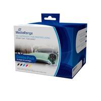 MediaRange inktcartridge: ink cartridges, for Epson® T1291 - T1294 series, with chip, Set 5 - Zwart, Cyaan, Magenta, .....