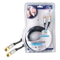 HQ coax kabel: 5m F/F - Zwart