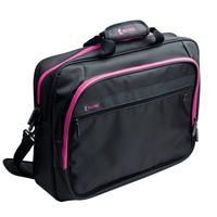 König laptoptas: Notebook bag 17''/18'' hot pink - Zwart, Roze