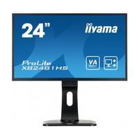 Iiyama monitor: ProLite  24'' ProLite Led monitor met 5ms reactietijd - Zwart