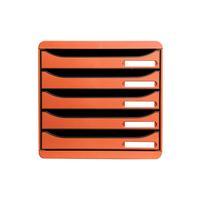 Exacompta BIG-BOX PLUS Classic brievenbak - Zwart, Oranje