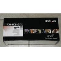 Lexmark toner: X463X31G - Black toner cartridge, 15000 pages - Zwart
