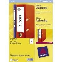 Avery Border Binder Labels, White 192 x 62mm (25) Etiket