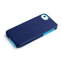 ROCK mobile phone case: Texture Double Color Protective Case Apple iPhone 5/5S/SE, Blue - Blauw