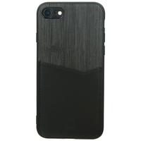 Valenta Card Slot Backcover iPhone SE (2020) / 8 / 7 - Zwart - Zwart / Black Accessoire