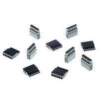 Axis CONNECTOR A 6P2.5 STR 10PCS Kabel connector - Zwart