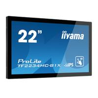 "Iiyama touchscreen monitor: 54.61 cm (21.5 "") IPS LED, Capacitive, Multitouch, 1920 x 1080, 16:9, 268.1 x 476.6 mm, 8 ....."