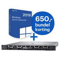 DELL PowerEdge R440 + Microsoft Windows 2019 Datacenter bundel Server - Zwart
