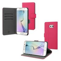 Muvit Wallet Stand Case Samsung Galaxy S6 Edge Plus Roze