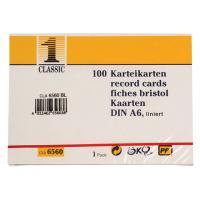 HIG SysteemkaartA6 blanco /pk 100 indexkaart