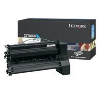 Lexmark toner: C77x, X772e 6K cyaan printcartridge
