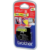 Brother labelprinter tape: 9 mm zwart op gele tape, 8 m