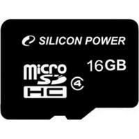 Silicon Power flashgeheugen: 16GB microSDHC - Zwart