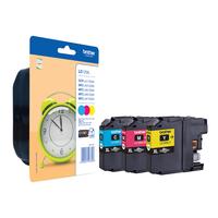 Brother inktcartridge: LC-125XLRBWBP, LC-125C/M/Y - Cyaan, Magenta, Geel