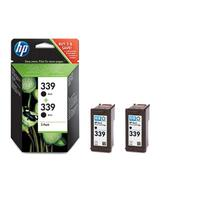 HP inktcartridge: 339 originele zwarte inktcartridges, 2-pack