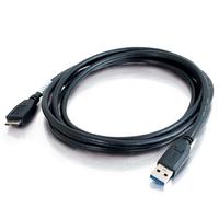C2G 1m USB 3.0 A mannelijk naar micro-USB B mannelijke kabel USB kabel - Zwart