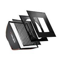 Walimex camera kit: pro Softbox PLUS Orange Line 80x120 - Zwart, Wit