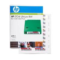 Hewlett Packard Enterprise barcode label: HP LTO4 Ultrium RW Bar Code Label Pack