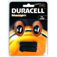 Duracell zaklantaarn: Bunny Eyes Bicycle Light Set - Oranje