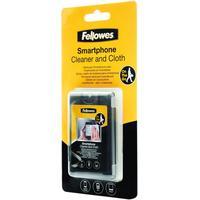 Fellowes reinigingskit: Smartphone reiniger met microvezeldoek - Zwart
