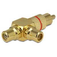 DeLOCK kabel adapter: Adapter RCA male > 2 x RCA female - Goud