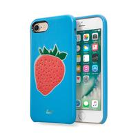 LAUT mobile phone case: KITSCH, iPhone 7, rich faux leather - Blauw, Groen, Rood