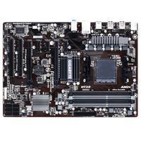 Gigabyte moederbord: AMD 970 + SB950 Chipset, 4x1.5V DDR3 DIMM, GbE LAN, Realtek HD audio, ATX
