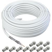 Schwaiger coax kabel: KOX120/100 - Wit