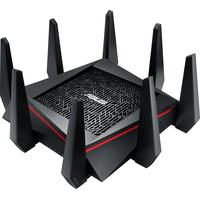 ASUS wireless router: RT-AC5300 - Zwart, Rood
