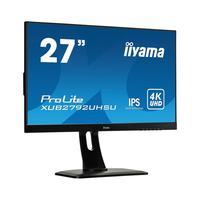 """Iiyama monitor: ProLite 68.58 cm (27"""") , 4K UHD, 300 cd/m², DVI, HDMI, USB 3.0, 100 - 240 V, 50/60 Hz - Zwart"""
