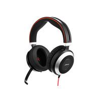 Jabra headset: Evolve 80 MS Stereo - Zwart