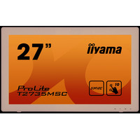 "Iiyama touchscreen monitor: ProLite ProLite T2735MSC-B2 - 27"", AMVA+, 3000:1, 255 cd/m², 0.311 x 0.311, 5 ms"